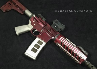 AR15 ruby red clearcoat