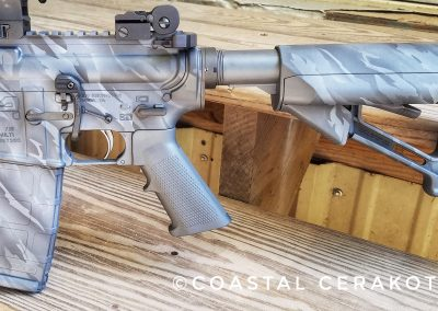 Black and Gray Shadow Camo AR15